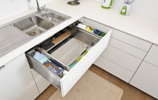 10 Amazing Ideas To Utilize The Space Under The Sink For Storage: 4 Clever Kitchen Storage Ideas