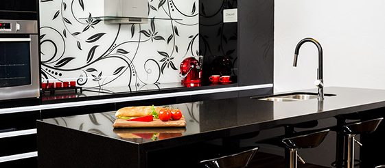 Kitchen Connection - black gloss tops