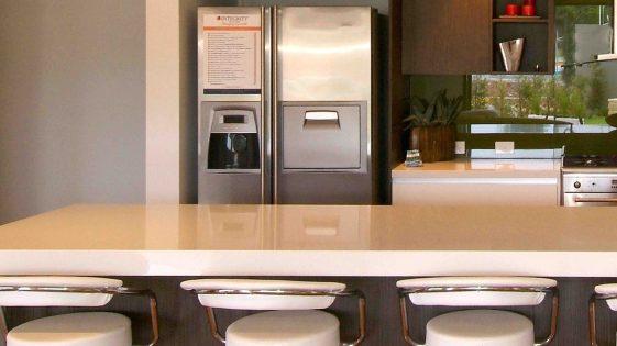 Kitchen Connection - green glass splashback
