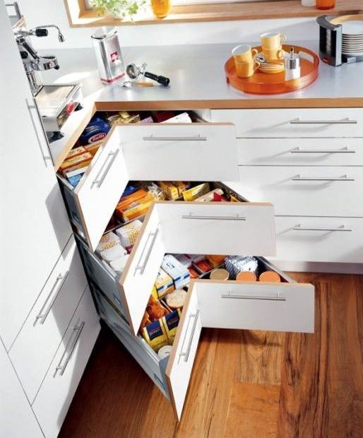 clever kitchen design. Blum Corner Drawer 4 Clever Kitchen Storage Ideas  Connection