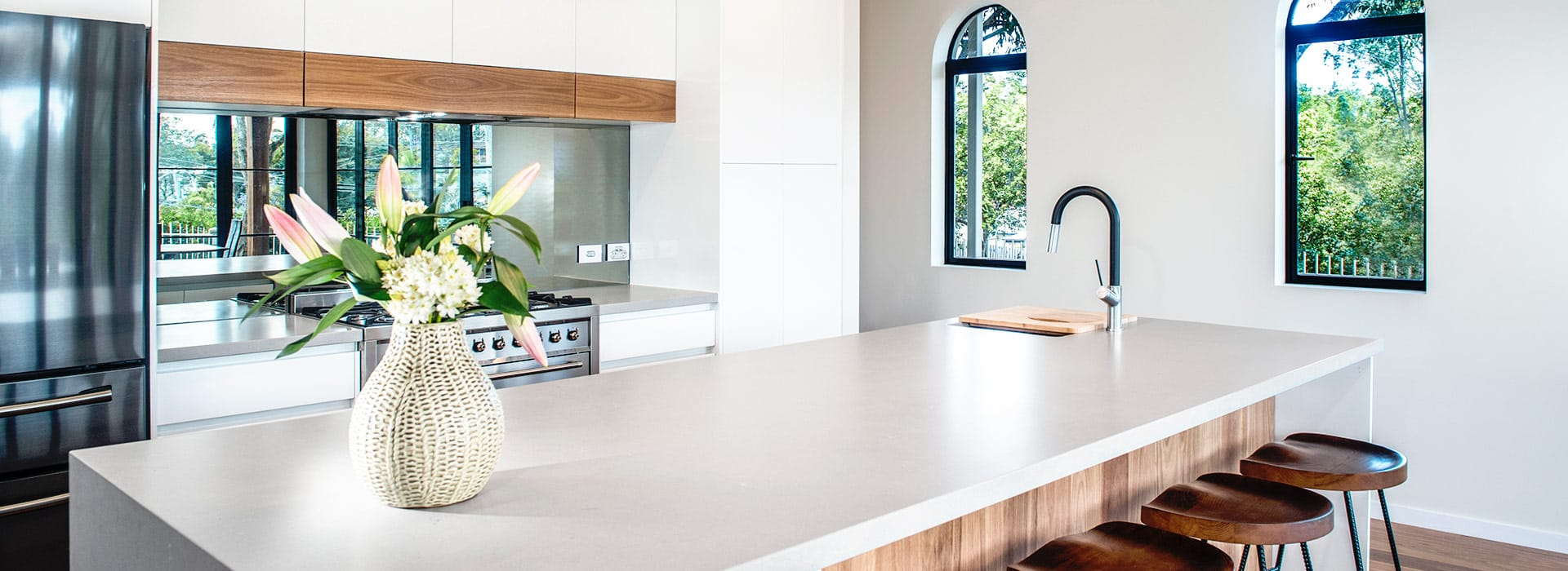 Kitchen Connection - Modern white and timber kitchen