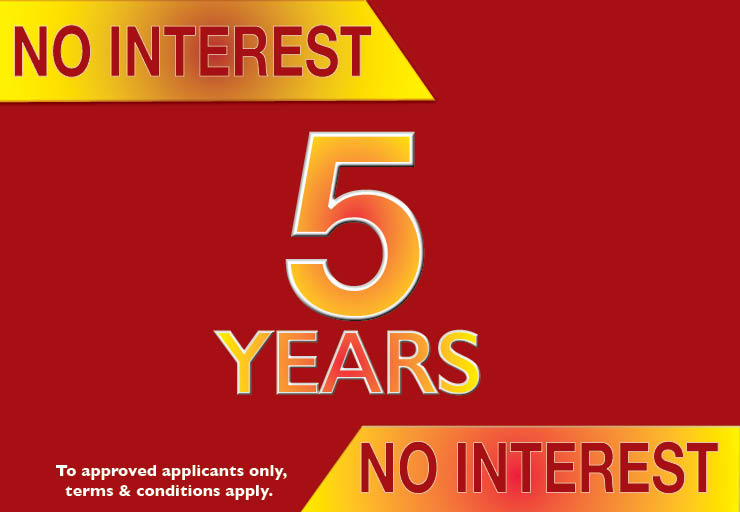 5 years interest free kitchen finance