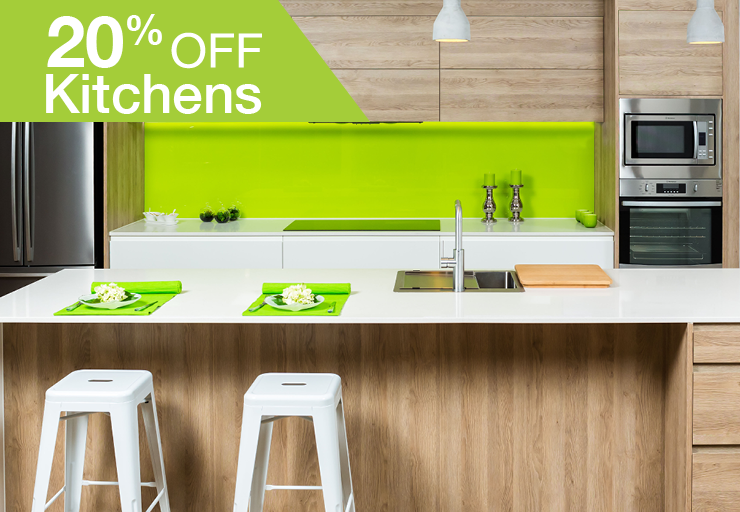 20% OFF KITCHENS promo