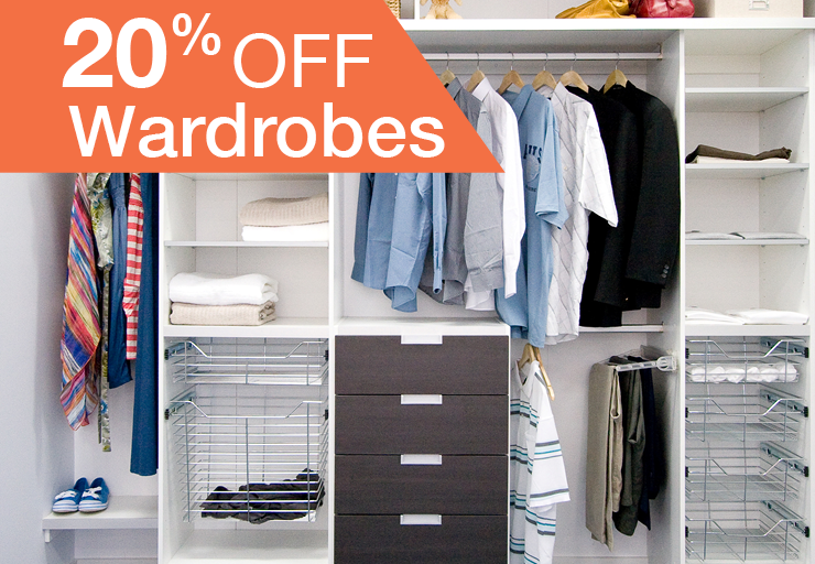 20% off wardrobes promo