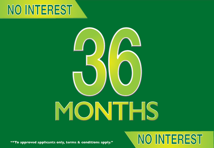 36 Months No Interest